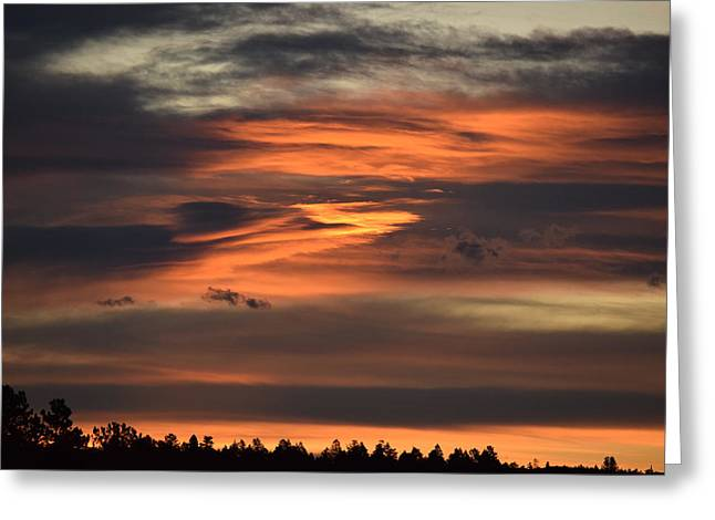 Greeting Card featuring the photograph Clouds At Dawn Over Ridge by Margarethe Binkley