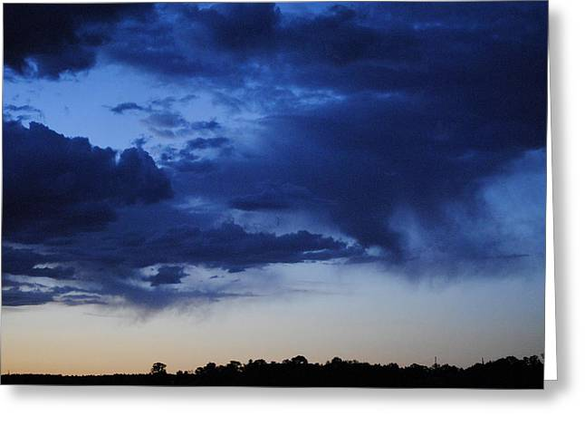 Clouds At Daybreak Greeting Card by Jon Rossiter
