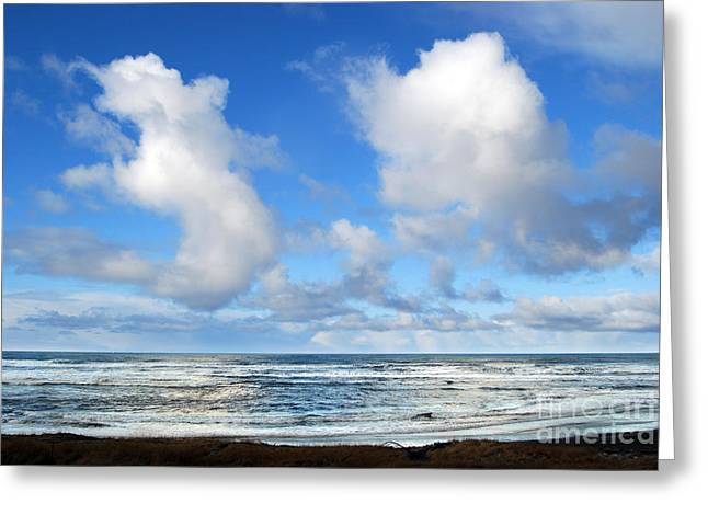 Greeting Card featuring the photograph Clouds At Play by Larry Keahey