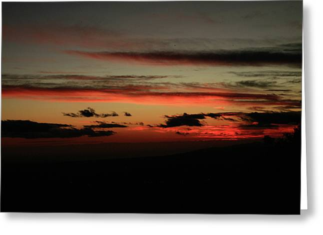 Clouds At Sunset Greeting Card