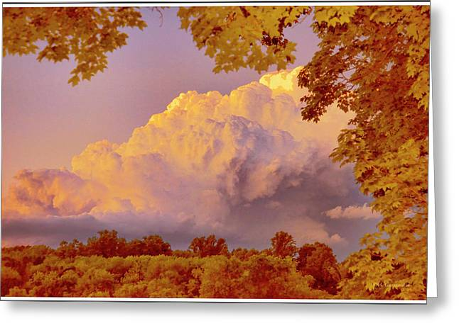 Clouds At Sunset, Southeastern Pennsylvania Greeting Card