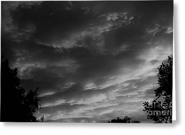 Clouds Before The Storm Greeting Card by Marsha Heiken