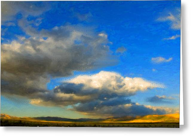Clouds Greeting Card by Betty LaRue