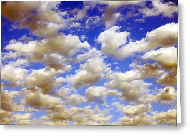 Clouds Blue Sky Greeting Card