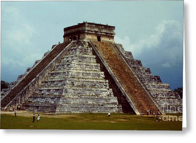 Clouds Crowd Kukulkan Greeting Card by Roy Anthony Kaelin