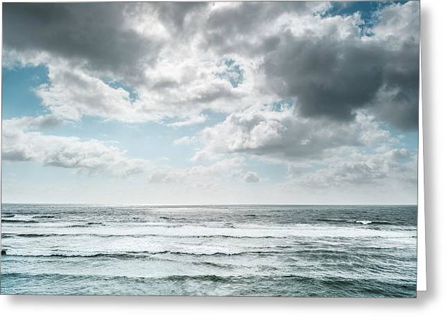 Greeting Card featuring the photograph Clouds Dream Of Being Oceans by Alexander Kunz