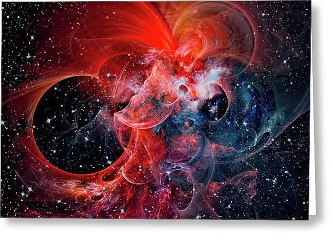 Clouds Galaxy Greeting Card by Marfffa Art