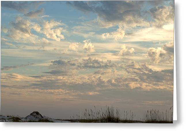 Clouds Gulf Islands National Seashore Florida Greeting Card