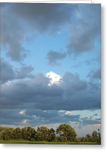 Clouds In A Bright Sky Greeting Card