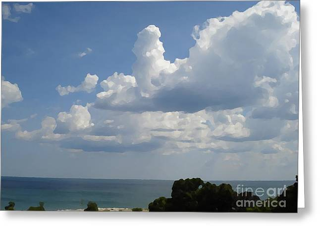 Clouds In August Greeting Card by John  Bichler