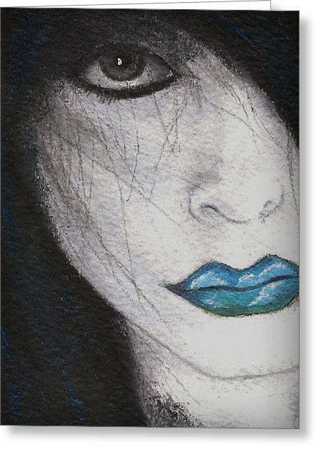Clouds In My Mouth Greeting Card by Oblivion Arts