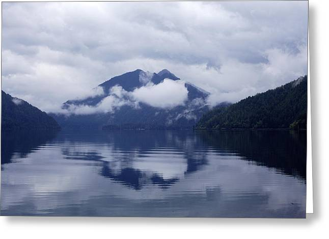 Clouds In The Lake Greeting Card by Jane Eleanor Nicholas
