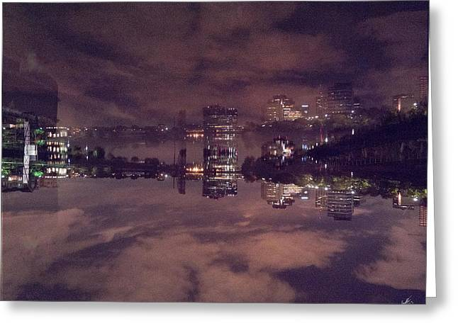 Clouds In The Passaic - Newark Nj Greeting Card