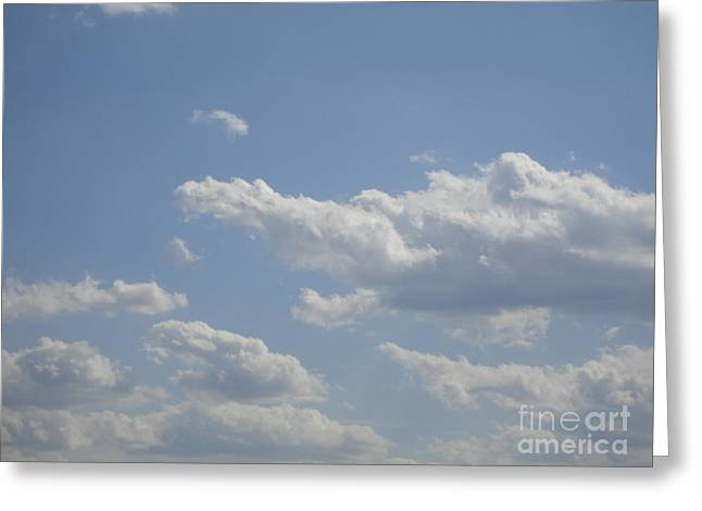 Clouds In The Sky One Greeting Card by Daniel Henning