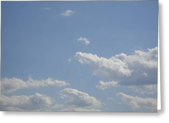 Clouds In The Sky Two Greeting Card by Daniel Henning