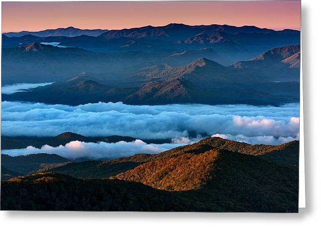 Clouds In The Valley Greeting Card by Rick Berk