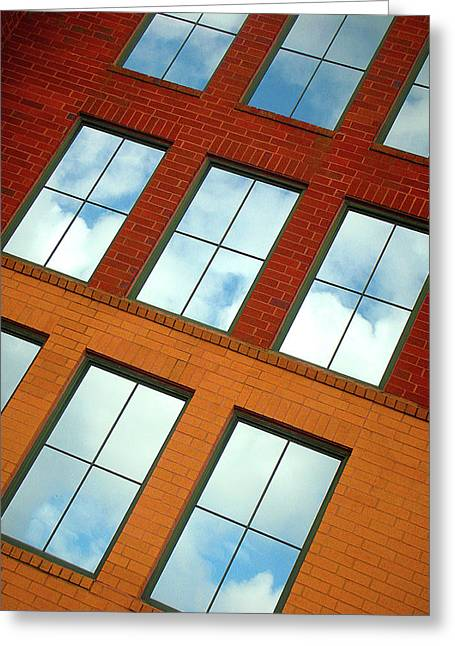 Clouds In The Windows Greeting Card