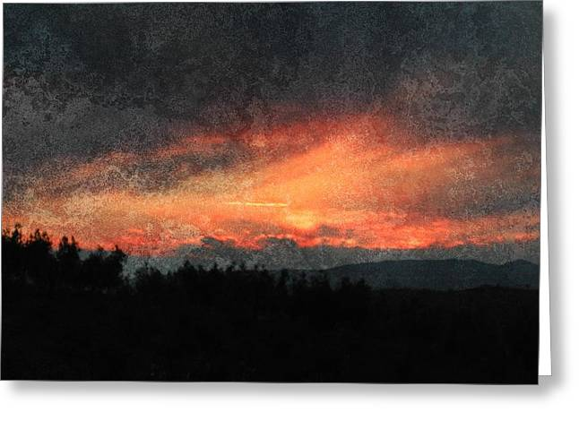 Clouds Like Mountains Greeting Card by Dorothy Berry-Lound