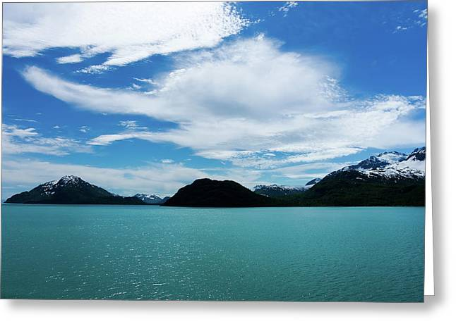 Clouds Mountains And Water Greeting Card