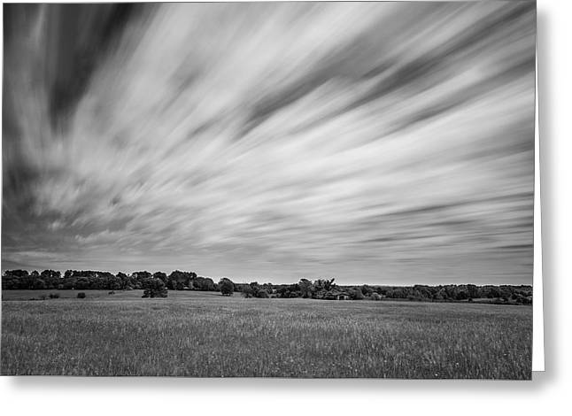 Greeting Card featuring the photograph Clouds Moving Over East Texas Field by Todd Aaron