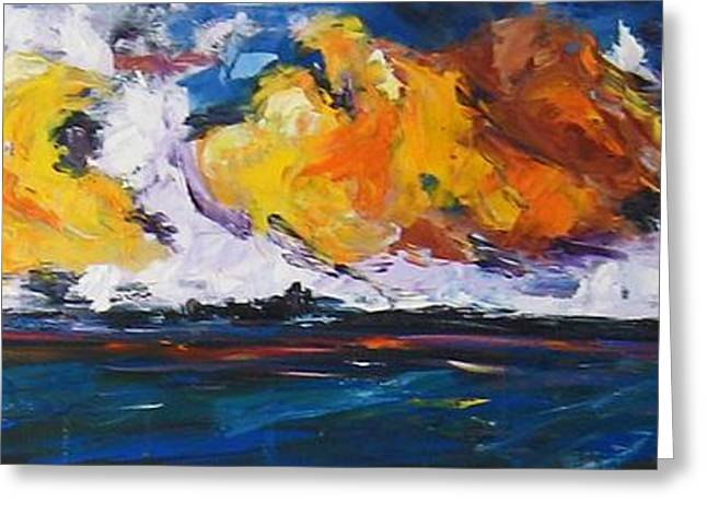 Clouds Of Fire Greeting Card by Debora Cardaci