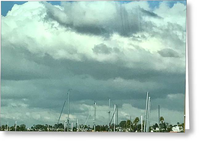 Clouds On The Bay Greeting Card