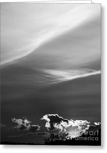 Clouds On The Horizon Greeting Card
