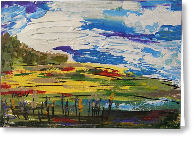 Clouds On The Move Greeting Card by Mary Carol Williams