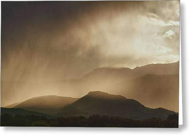 Clouds On The Rocky Mountains Front Range Foothills Greeting Card by James BO  Insogna