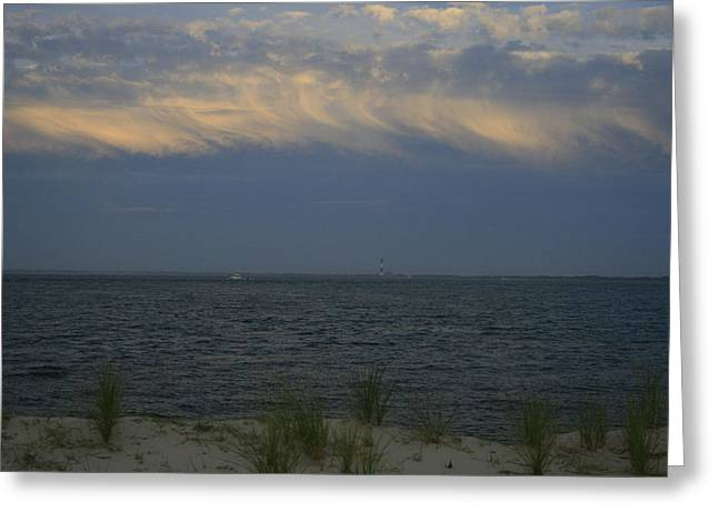 Long Island Photographs Greeting Cards - Clouds Out at Sea Greeting Card by Christopher Kirby