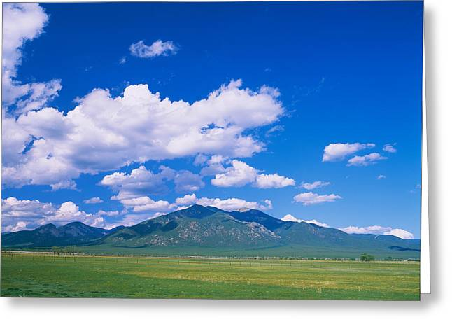 Clouds Over A Mountain Range, Taos Greeting Card by Panoramic Images