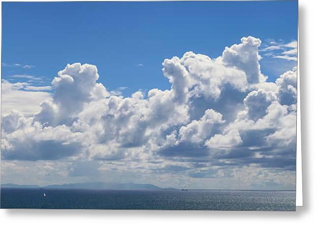 Clouds Over Catalina Island - Panorama Greeting Card
