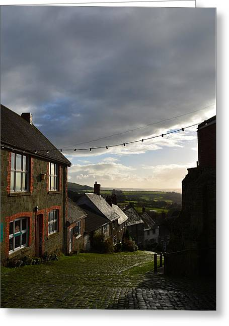 Clouds Over Gold Hill Greeting Card