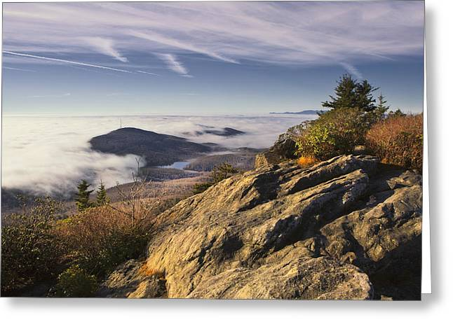 Clouds Over Grandmother Mountain Greeting Card