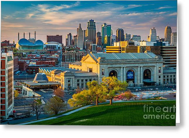 Clouds Over Kansas City Greeting Card by Inge Johnsson