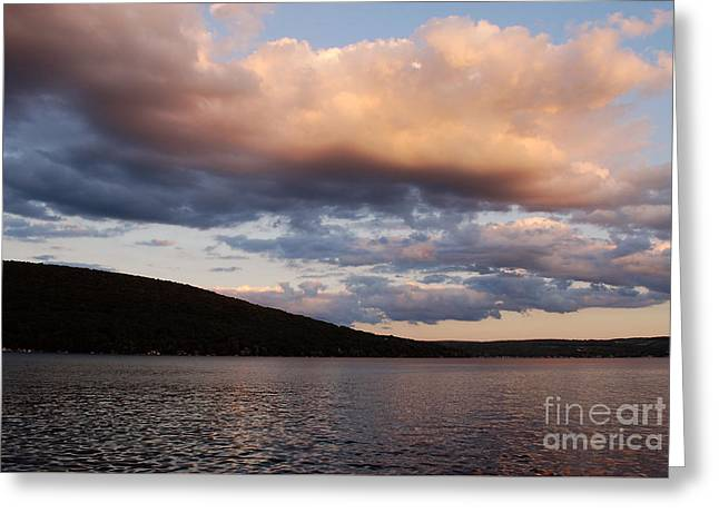 Clouds Over Keuka Greeting Card by Alisa Potter