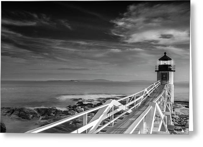 Clouds Over Marshall Point Lighthouse In Maine Greeting Card