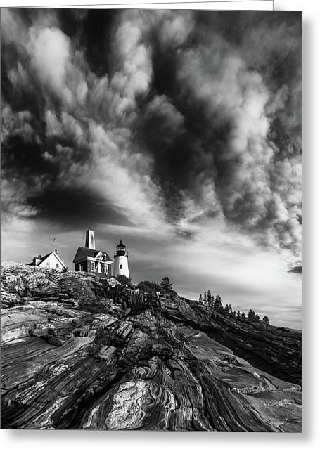 Clouds Over Pemaquid Lighthouse Greeting Card