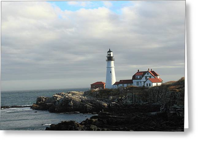 Clouds Over Portland Head Lighthouse 2 Greeting Card