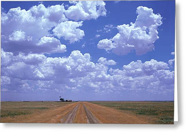 Clouds Over Prairie Amarillo Tx Greeting Card by Panoramic Images