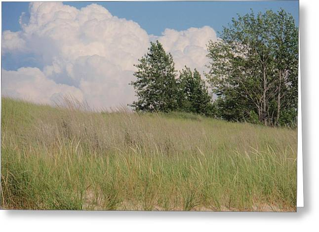 Greeting Card featuring the photograph Clouds Over Sand Dunes by Beth Akerman