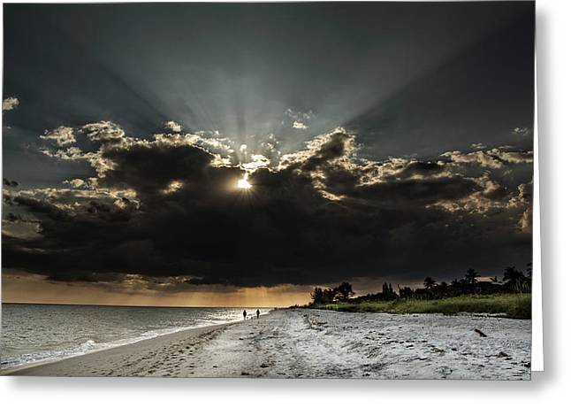 Clouds Over Sanibel Island Florida Greeting Card by Chrystal Mimbs
