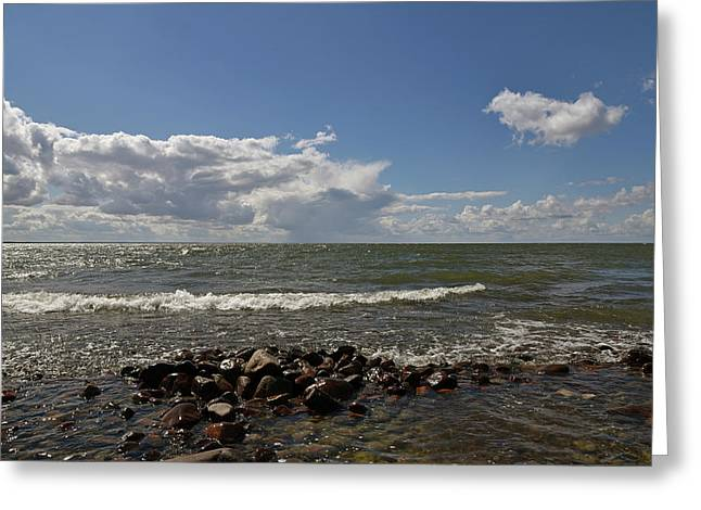 Clouds Over Sea Greeting Card