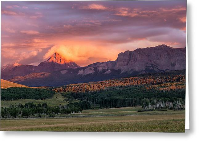Clouds Over Sneffels At Sunset Greeting Card