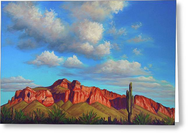 Clouds Over Superstitions Greeting Card