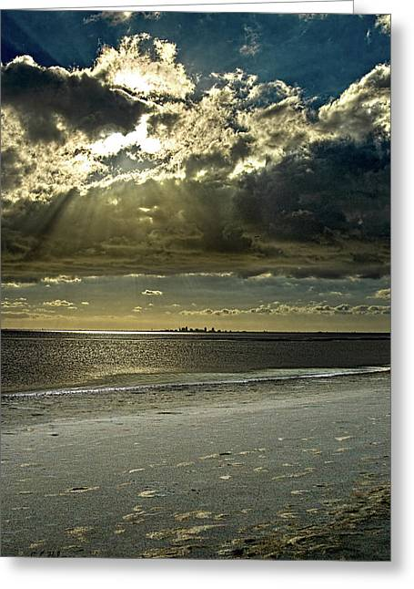 Clouds Over The Bay Greeting Card by Christopher Holmes