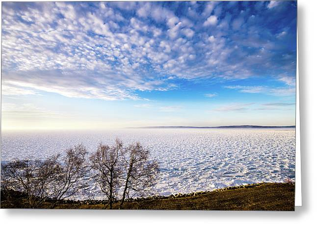 Clouds Over The Bay Greeting Card by Onyonet  Photo Studios