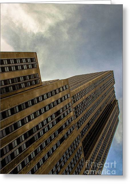 Clouds Over The Building  Greeting Card by Victory Designs