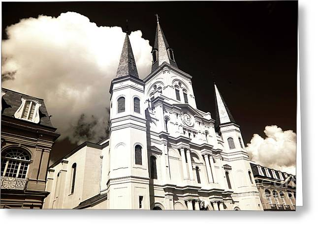 Clouds Over The Cathedral Infrared Greeting Card