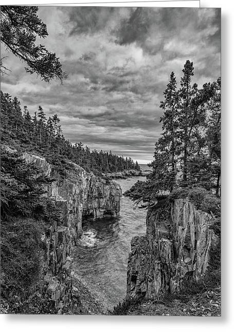 Clouds Over The Cliffs Greeting Card